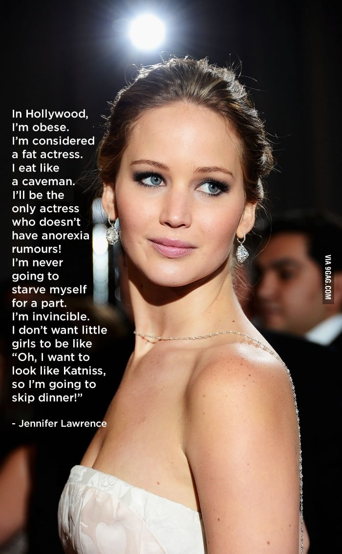 Respect for Jennifer Lawrence!