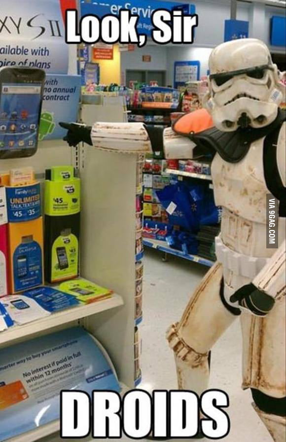 Not the droids you're looking for..