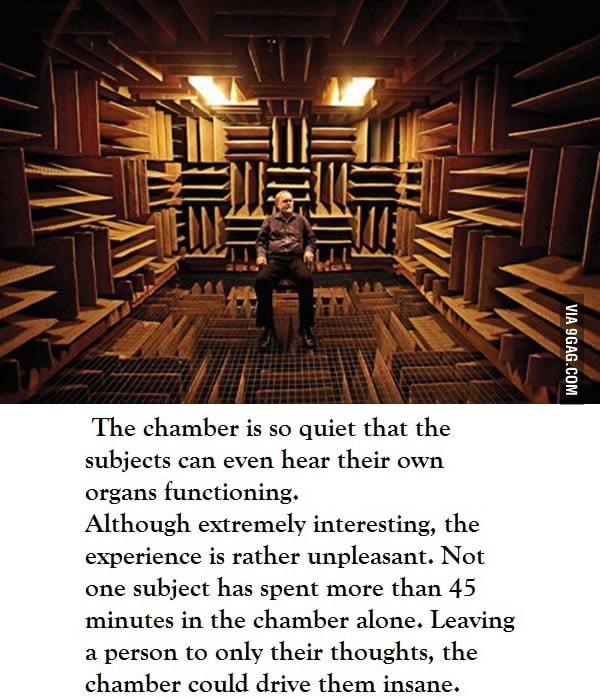 The world's quietest room - 9GAG