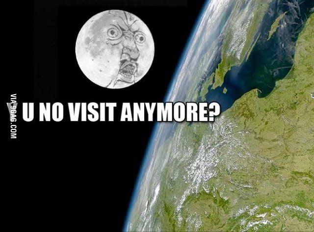 Moon feels lonely