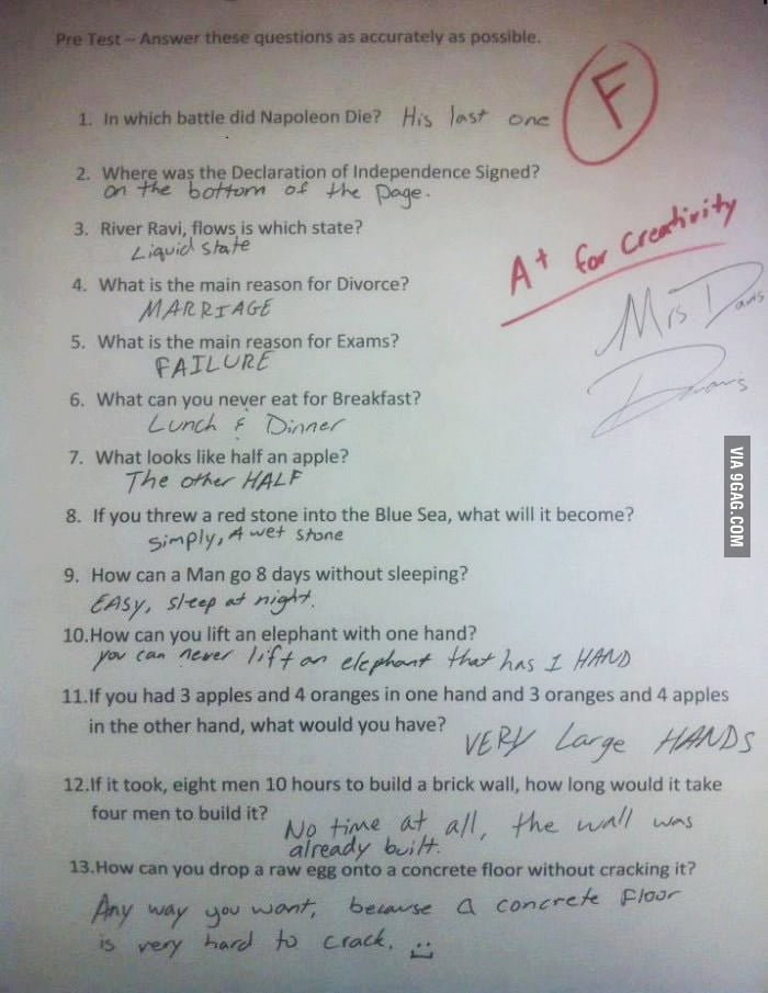 The dumbest test in the world