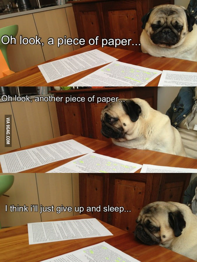 Every time I do my homework!