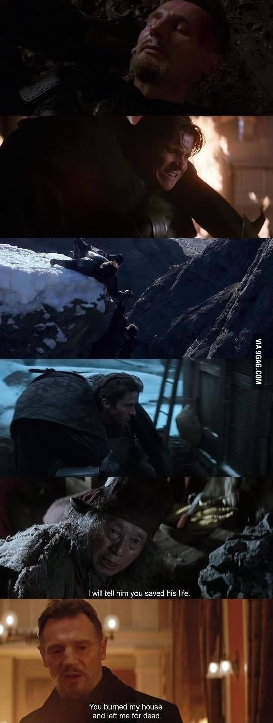 Liam neeson and Batman were trolled by him