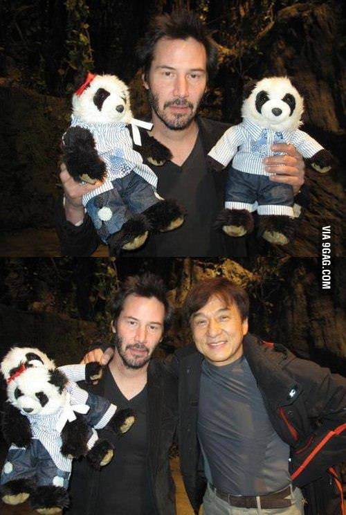 He's still sad even with pandas and Jackie Chan