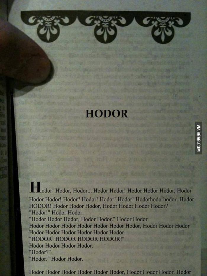 Book of Hodor!