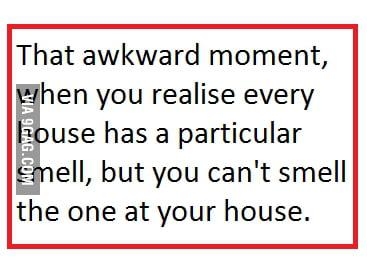 That awkward moment ..
