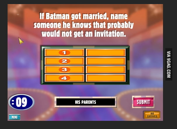 "Family Feud Asks ""Who Would Batman Invite To His Wedding?"""
