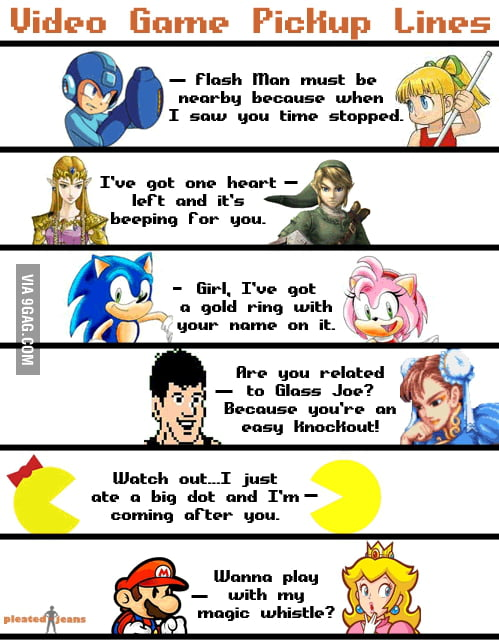 Video Game Pickup Lines Gamer Pick Up Lines