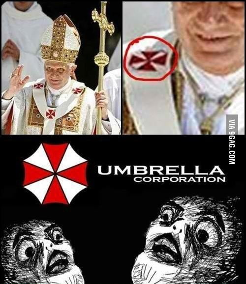 The Pope works in Umbrella Corp