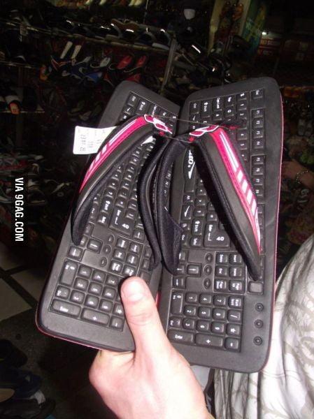 Keyboard Slippers