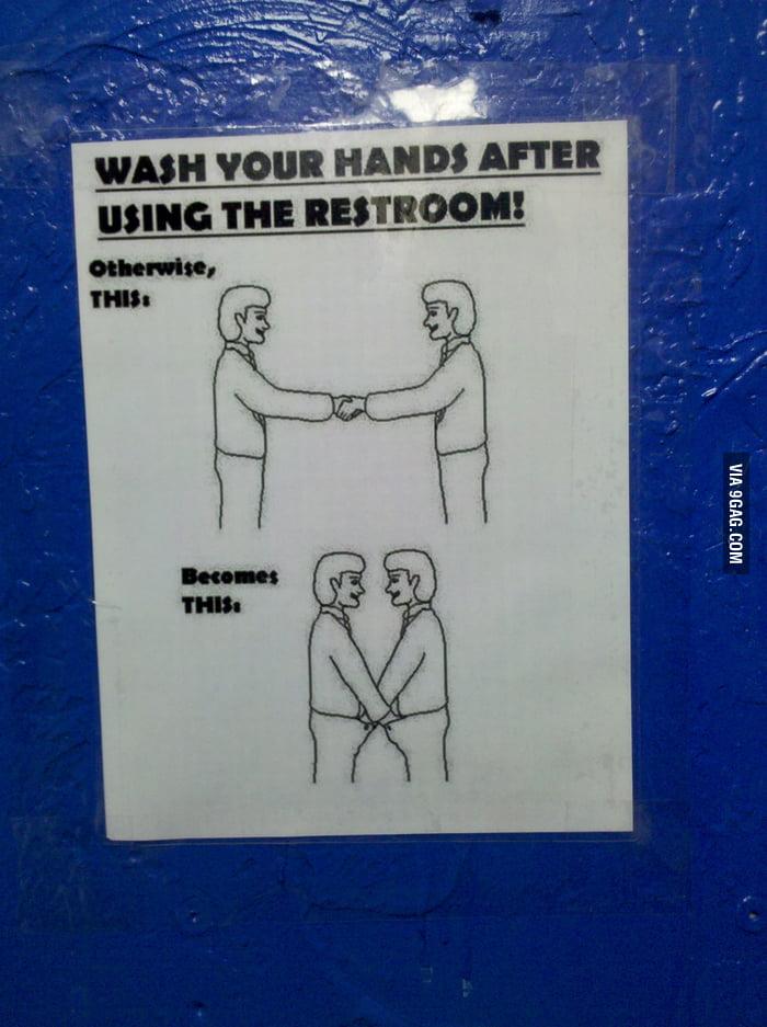 Bathroom Etiquette Reminder
