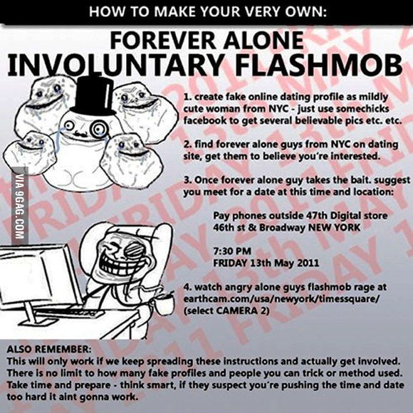 Forever alone flashmob
