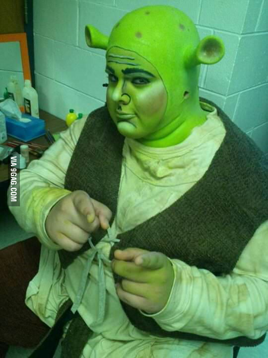 I raise your Shrek costume snd give you, my Shrek costume.