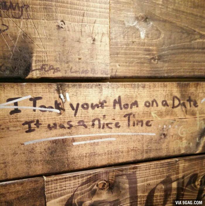 Canadian bathroom graffiti 9gag for Bathroom 9gag