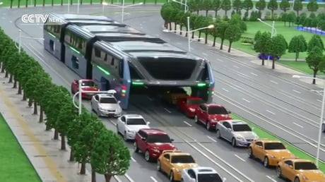 Elevated bus concept