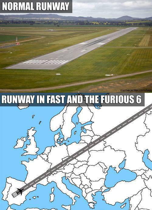 So how big was the runway in the fast and the furious 6?