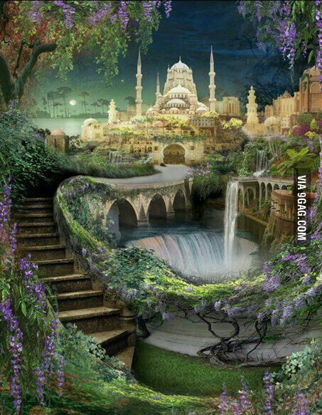 Hanging Gardens Of Babylon 1 Of 7 Wonders Of Ancient World 9gag