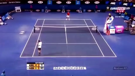 Only Nadal can produce this kind of shot