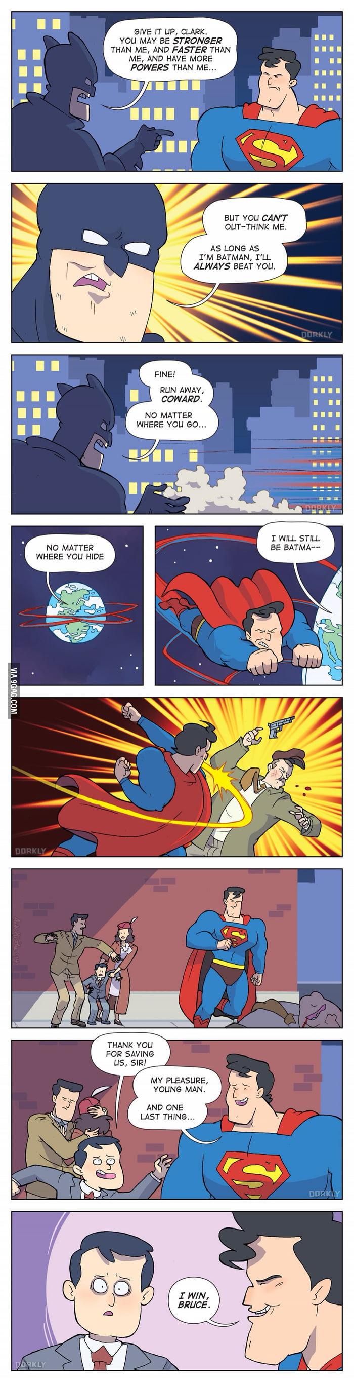 One way Superman could beat Batman