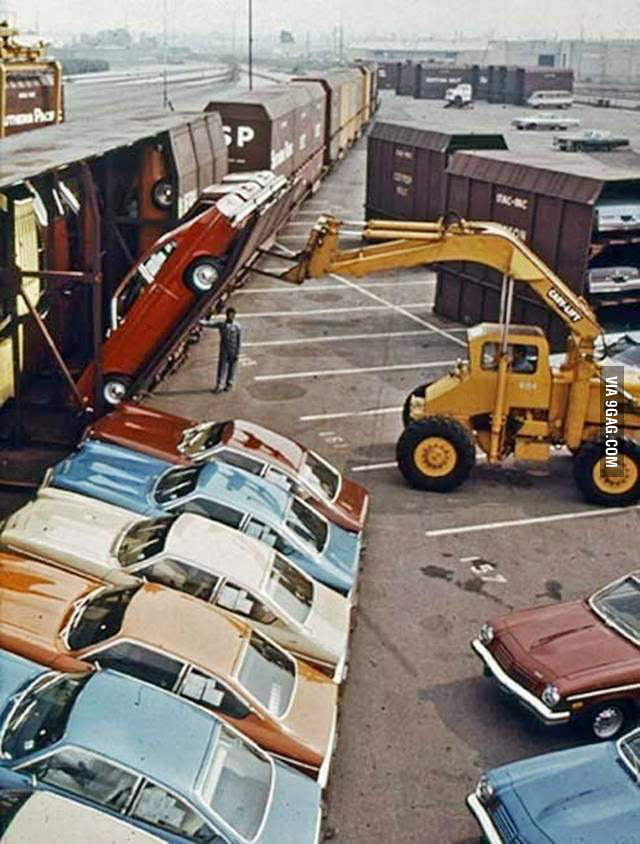 How Chevy Vegas were shipped (circa 1971)