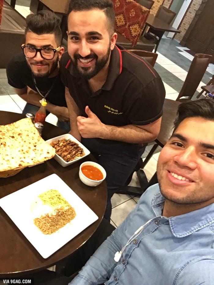 The Kebab Guy keeping his promises! Free food everyone, I repeat free food!