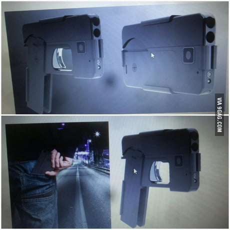 A gun that can be folded to look like a smartphone what the hell