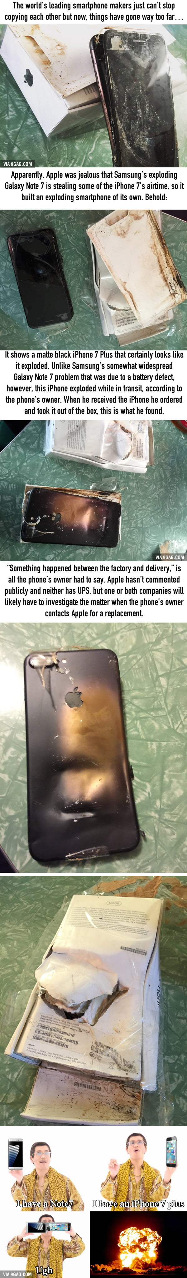 Yup, now the iPhone 7 is exploding