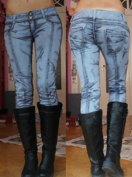 Comic book styled jeans