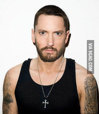 Googled Eminem With A Beard Not Sure What To Feel 9gag
