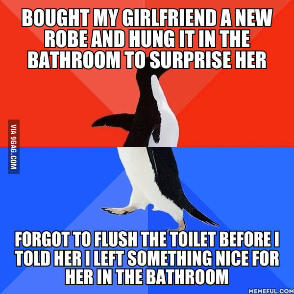 There 39 s a surprise for you in the bathroom 9gag for Bathroom 9gag