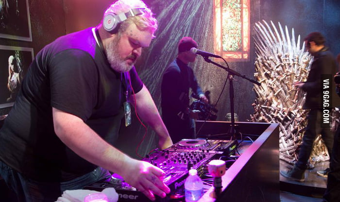 The Moment You Realize That Hodor Is A DJ In Real Life.
