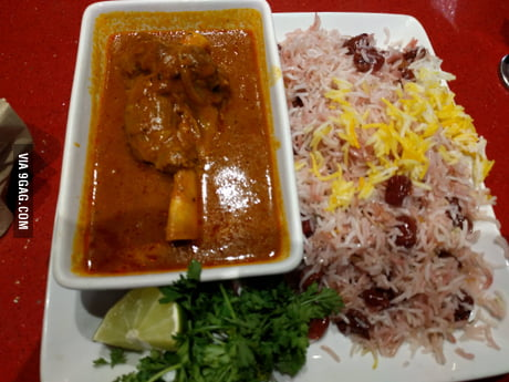 Persian style lamb with sour cherry rice