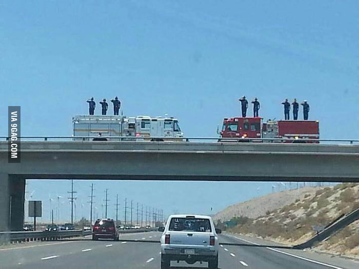 Sean Misner, one of the 19 firefighters who lost their lives in Arizona, on his way home.