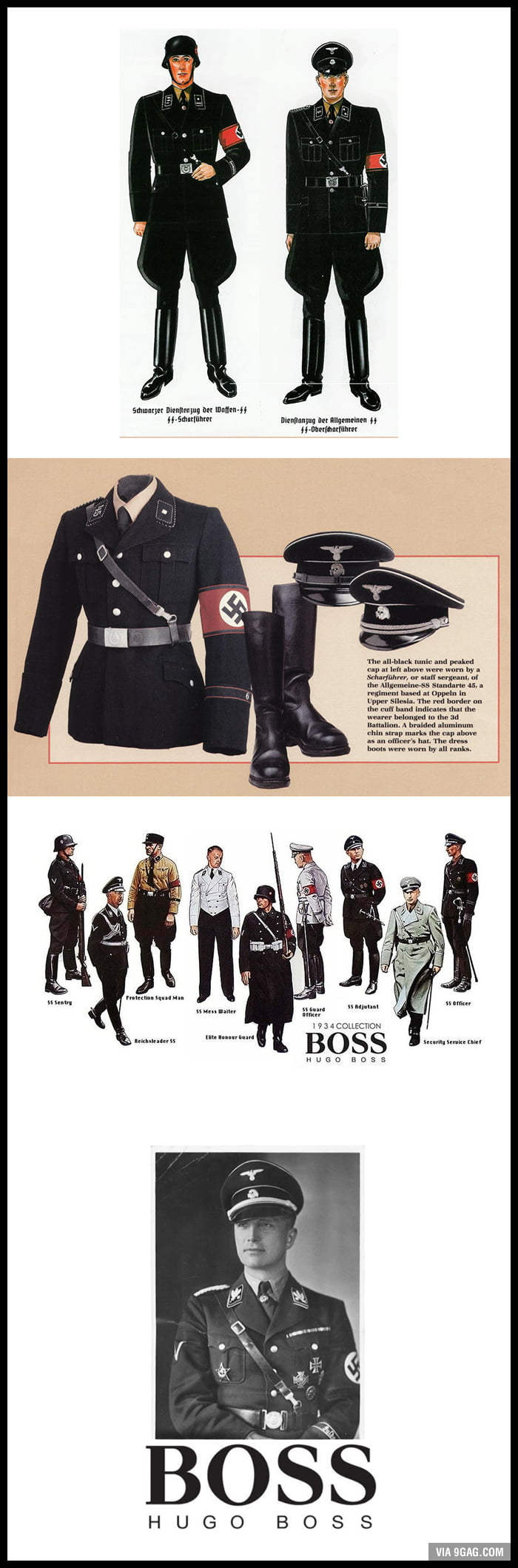 hugo boss the designer for the nazi uniforms in the 30s