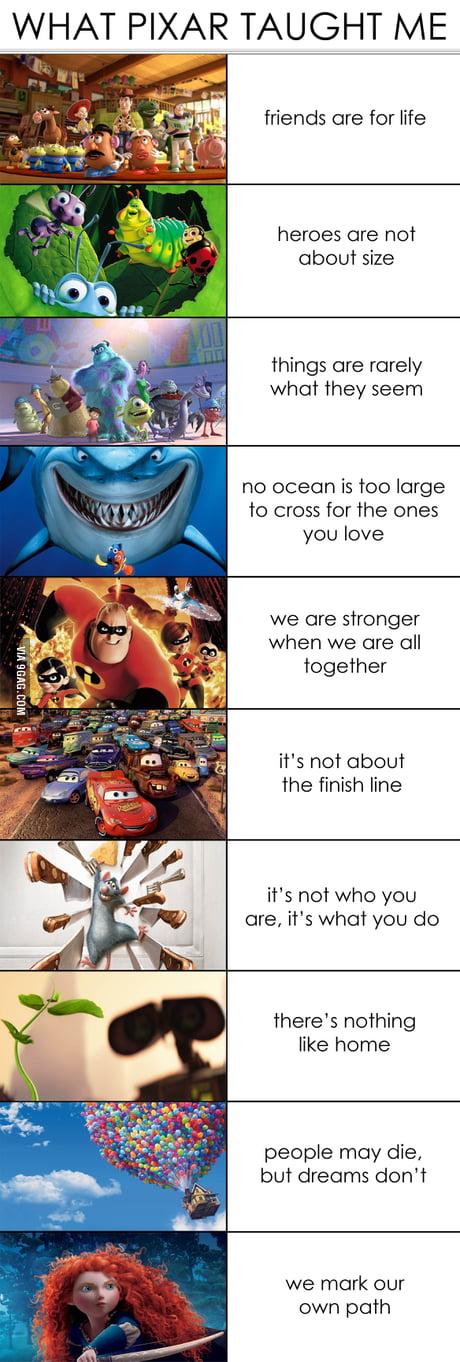What pixar has taught me