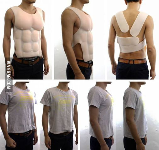 Men's answer to the push-up-bra