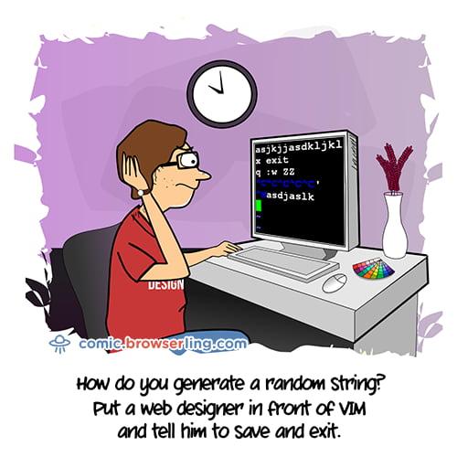 VIM - Web Designer Joke
