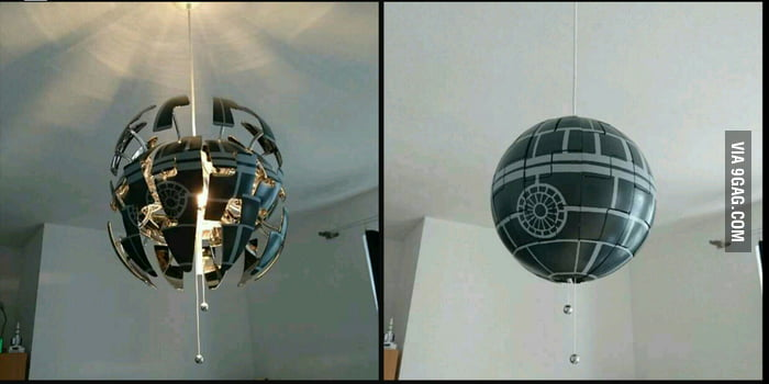 so most of you have probably seen the ikea death star lamp by now i 39 ve modified mine a bit. Black Bedroom Furniture Sets. Home Design Ideas