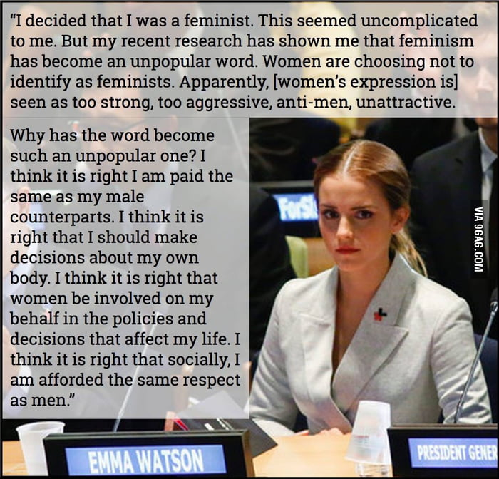 Emma Watson explains what feminism really is for the idiots