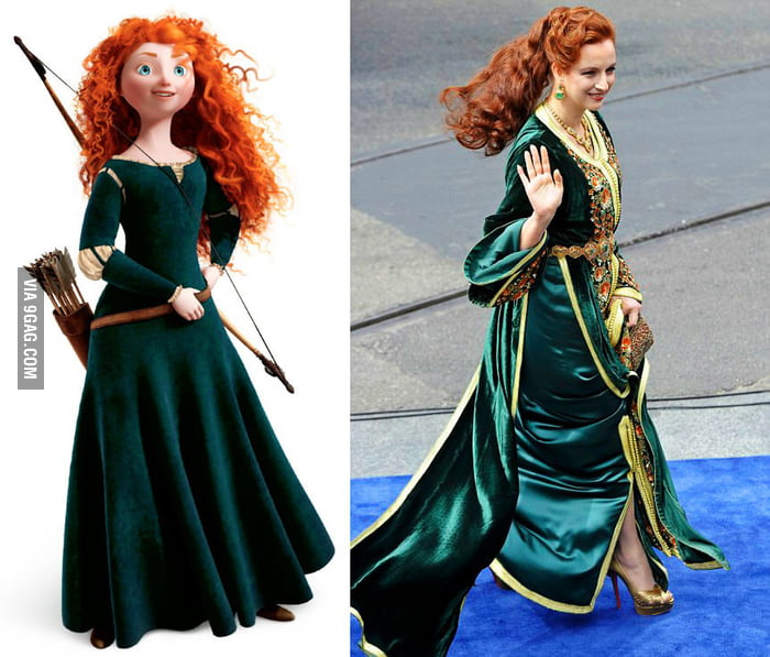 Princess Lalla Salma of Morocco looks like Merida from the movie Brave