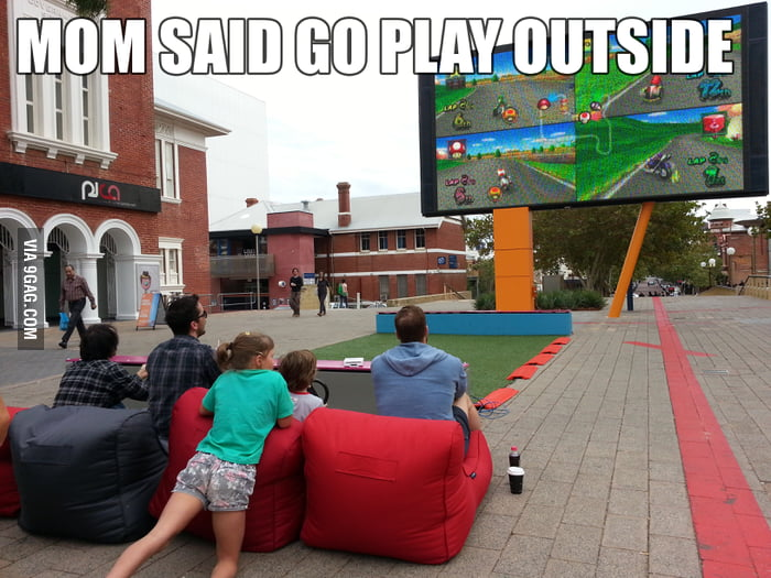 Mom asked us to play outside