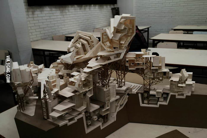 I wanted to share my work as a student of architecture for Architecture students 9gag