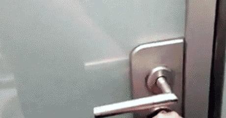 Door that's opaque when locked.