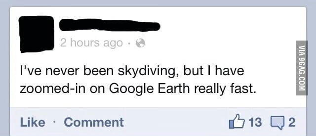 I think we've all been skydiving