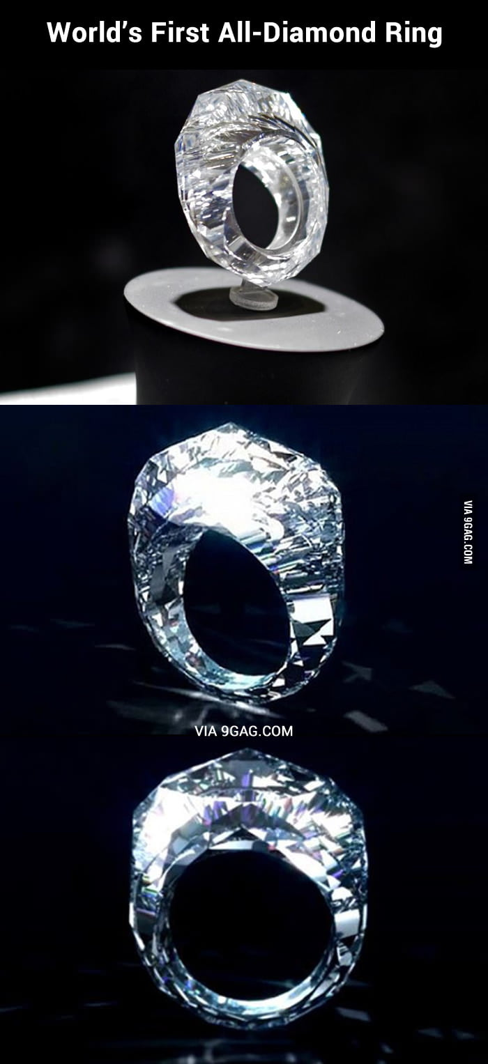 World s first all diamond ring at 68 million dollars 9GAG