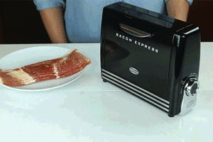 Is the internet still into bacon? 'cause there's now a toaster for bacon...... A TOASTER FOR BACON!!!