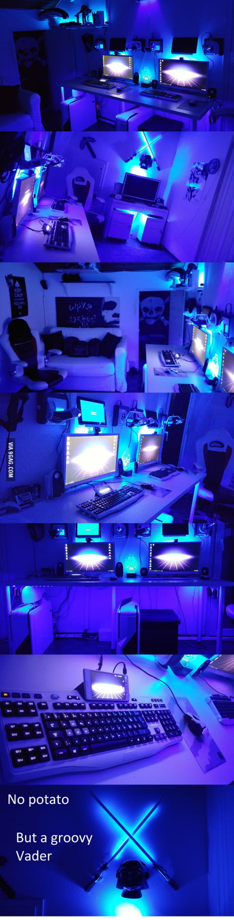 I see everybody showing desk, this is mine (second pc for the girlfriend) I hope you like it people.