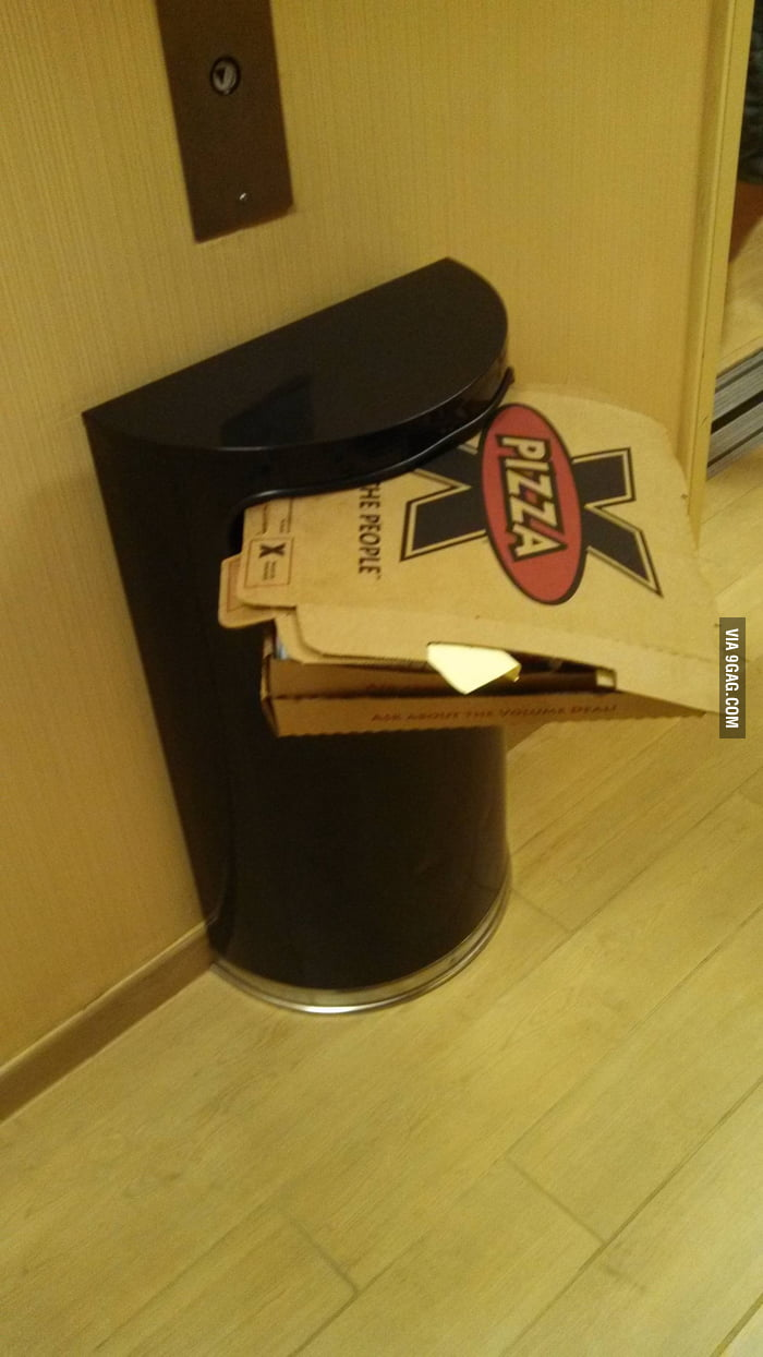 Yes...that's how a garbage can works....