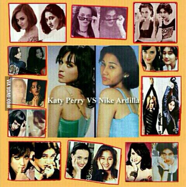 Nike ardilla (indonesia, 90's) vs katy perry (U.S. 00-10's)