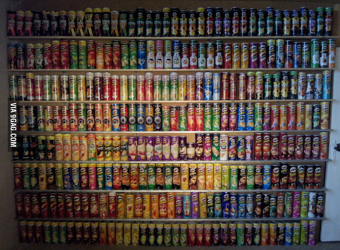 gag aGRvDN about  months ago i posted my pringles collection here thanks to friends and gaggers it now has reached cans